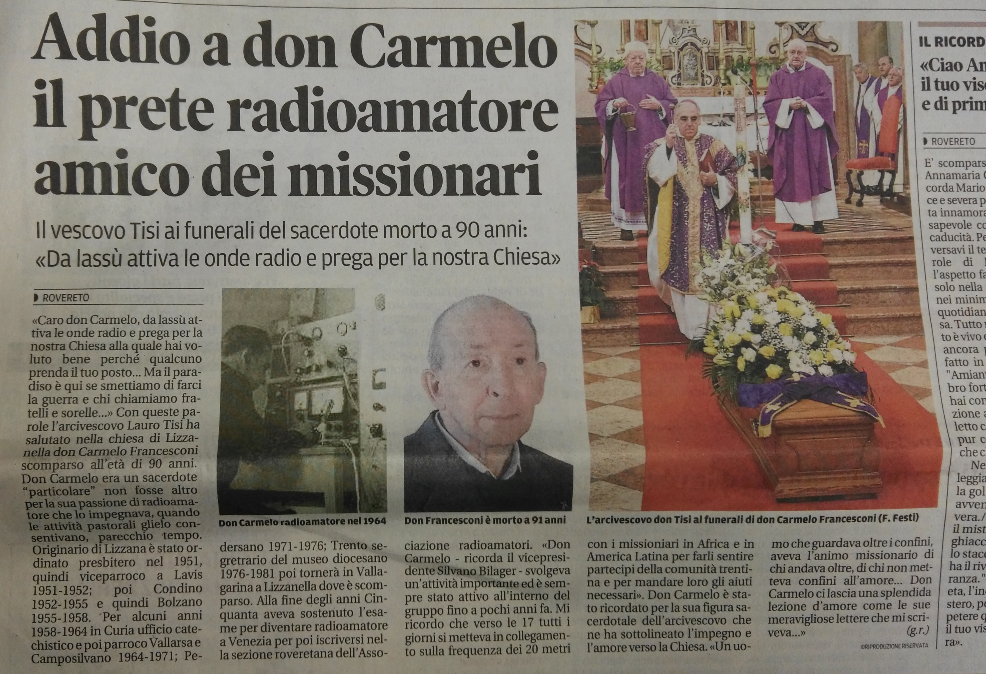 Un saluto a don Carmelo